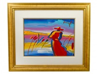 walking in reeds by peter max