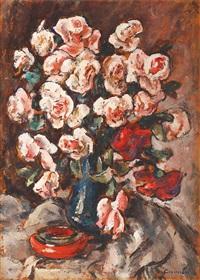 pink roses by traian cornescu