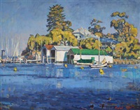 boatsheds, royal freshwater bay yacht club by mary jane malet
