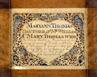 birth certificate for maryann thomas by wilhelmus antonius faber