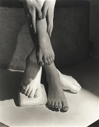 barefoot beauty (advertising photograph, new york) by horst p. horst