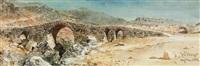 the ancient bridge at smyrna, turkey by carl haag