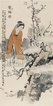 赏梅图 by liu jiang