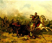 husaren in der schlacht by otto clemens fikentscher