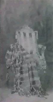 el sillon luis xvi con un almohadon y un chal by jose maria manresa
