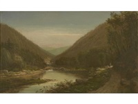 figures on the conemaugh river by george hetzel