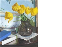 yellow tulips by william oliphant hutchison