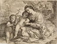 die heilige familie mit dem johannesknaben by andrea camassei
