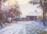 the red barn by walter launt palmer
