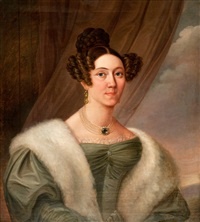 portrait of a woman by carl vilhelm nordgren