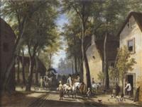 une halte de cavaliers by louis gadbois