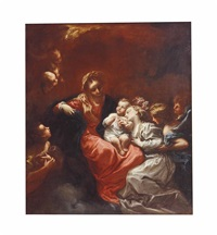 the mystic marriage of saint catherine by italian school-genoa (18)