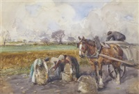 potato pickers by john atkinson