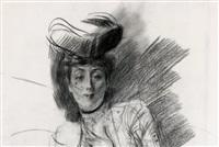 la dame à la voilette à pois by giovanni boldini