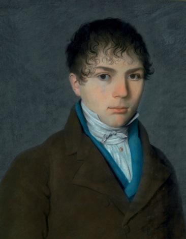 portrait dun jeune homme en buste by pierre petitot