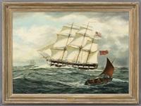ships in open water by henry scott