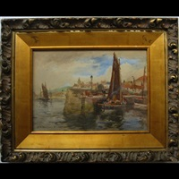 fishing harbour by william st. thomas smith