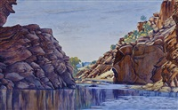 central australian gorge by albert namatjira