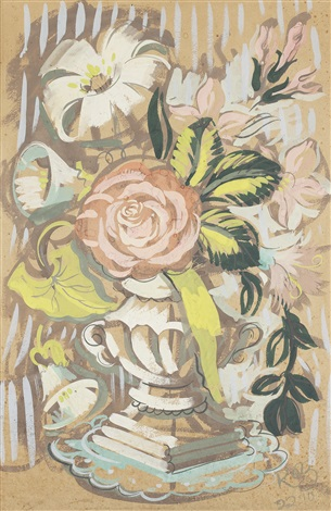 flowers in an urn by robert macbryde