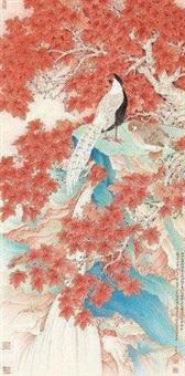 霜林白鹇图 by liu bonong