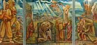biblical scenes (triptych) by arie alweil
