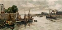 port de honfleur by fernand herbo