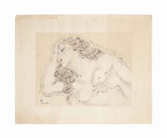 la blonde endormie by léonard tsuguharu foujita