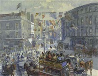 kensington high street on queen victoria's diamond jubilee by william harding smith