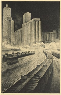 granaries to babylon by louis lozowick