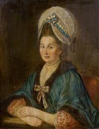 portrait de dame en buste by pierre le sueur