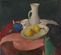 still life with a white jug by gerhard arnold christiaan smith