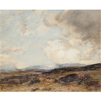 monadhleath hills, autumn by james campbell noble