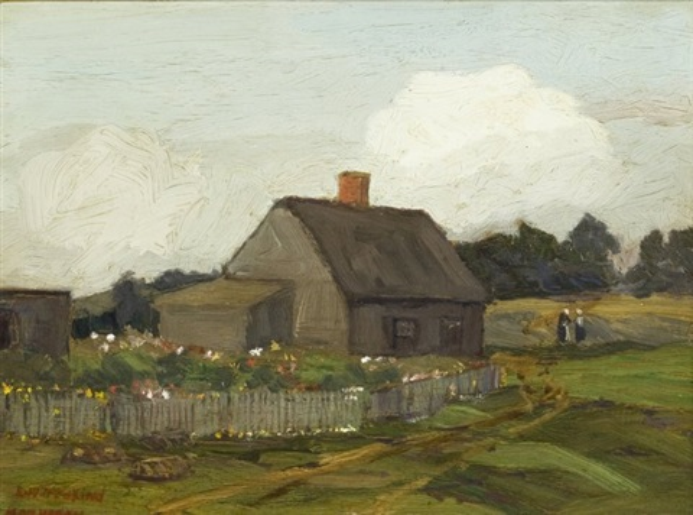 house and garden, monhegan by edward willis redfield