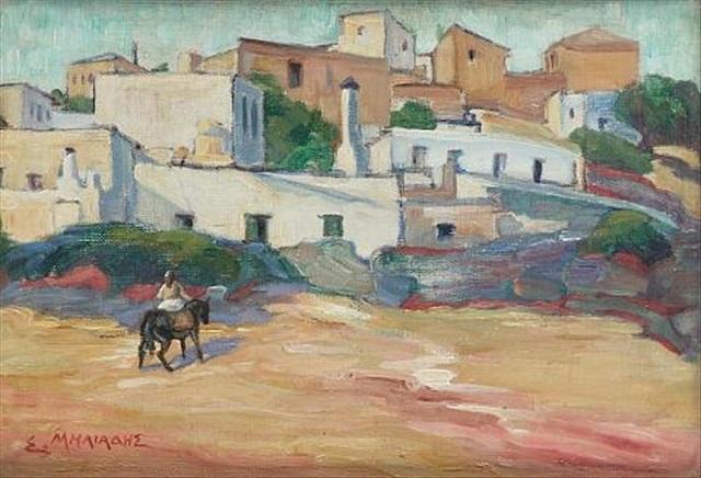 a view in crete by stelios miliadis