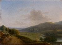 paysage vallonné by françois jean (jean françois) sablet