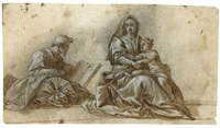 the holy family (after andrea del sarto's madonna del sacco) by hans rottenhammer the elder