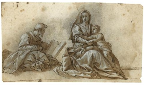 the holy family after andrea del sartos madonna del sacco by hans rottenhammer the elder