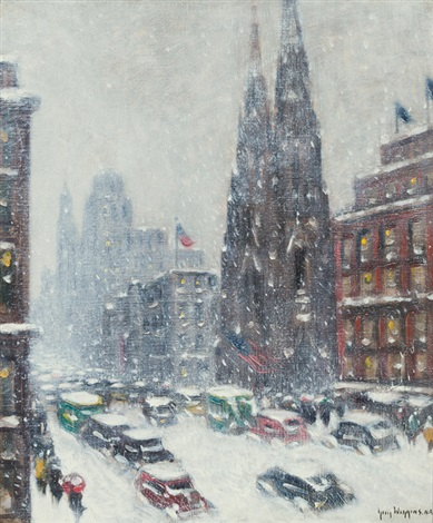 st patricks in winter by guy carleton wiggins