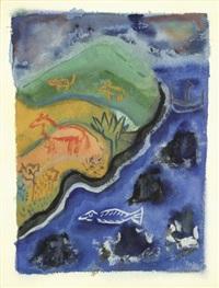 bord de mer exotique avec des animaux by henry miller