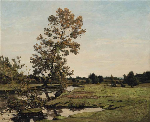bords de lallier by henri joseph harpignies
