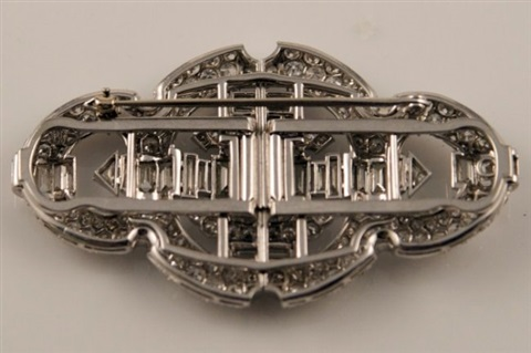 diamond art deco pin 1920 1930