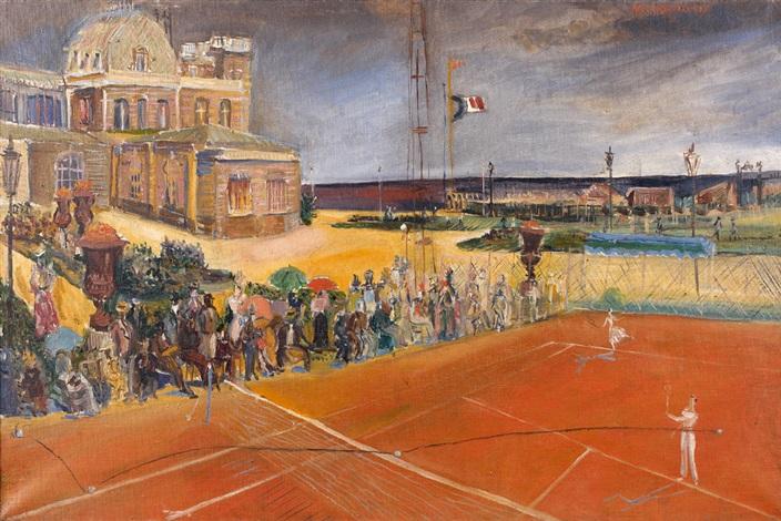 partie de tennis sur la plage by alexis paul arapov