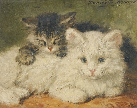 two kittens by henriette ronner knip