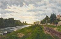 lavandière au bord de la rivière by jacinthe pozier