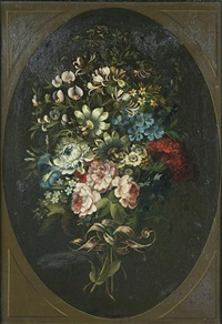 a ribbon tied bouquet of flowers by james lambert