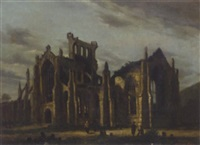 melrose abbey by g. colville