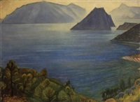 view of milos island by valias semertzides