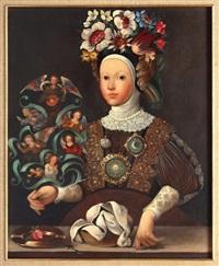 monja florida con ángeles by benjamín domínguez