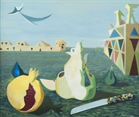 nature morte en ville by lucien coutaud