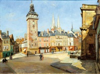 la place du beffroy by rené cottet